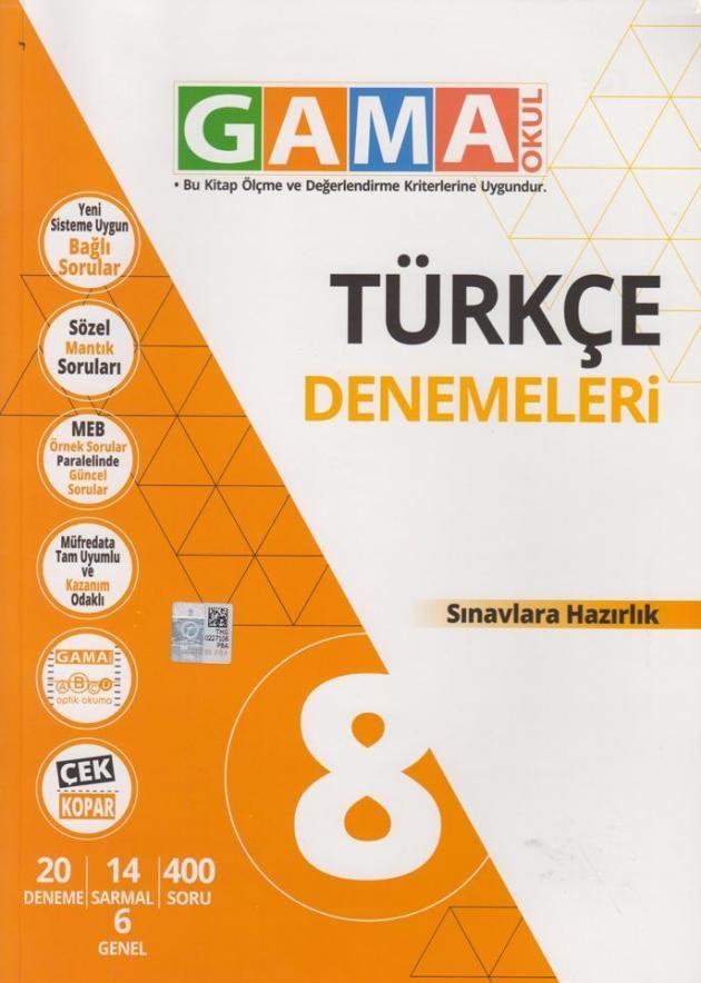 Gama Okul Yayınları LGS Denemesi-1