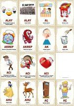 Zıt Anlamlı Kelime Oyun Kartları 220 Adet