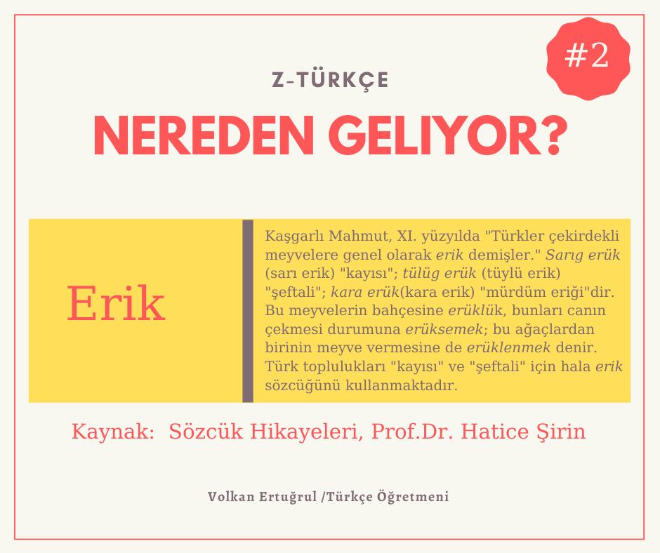 """""""Erik"""" Kelimesinin Etimolojisi"""