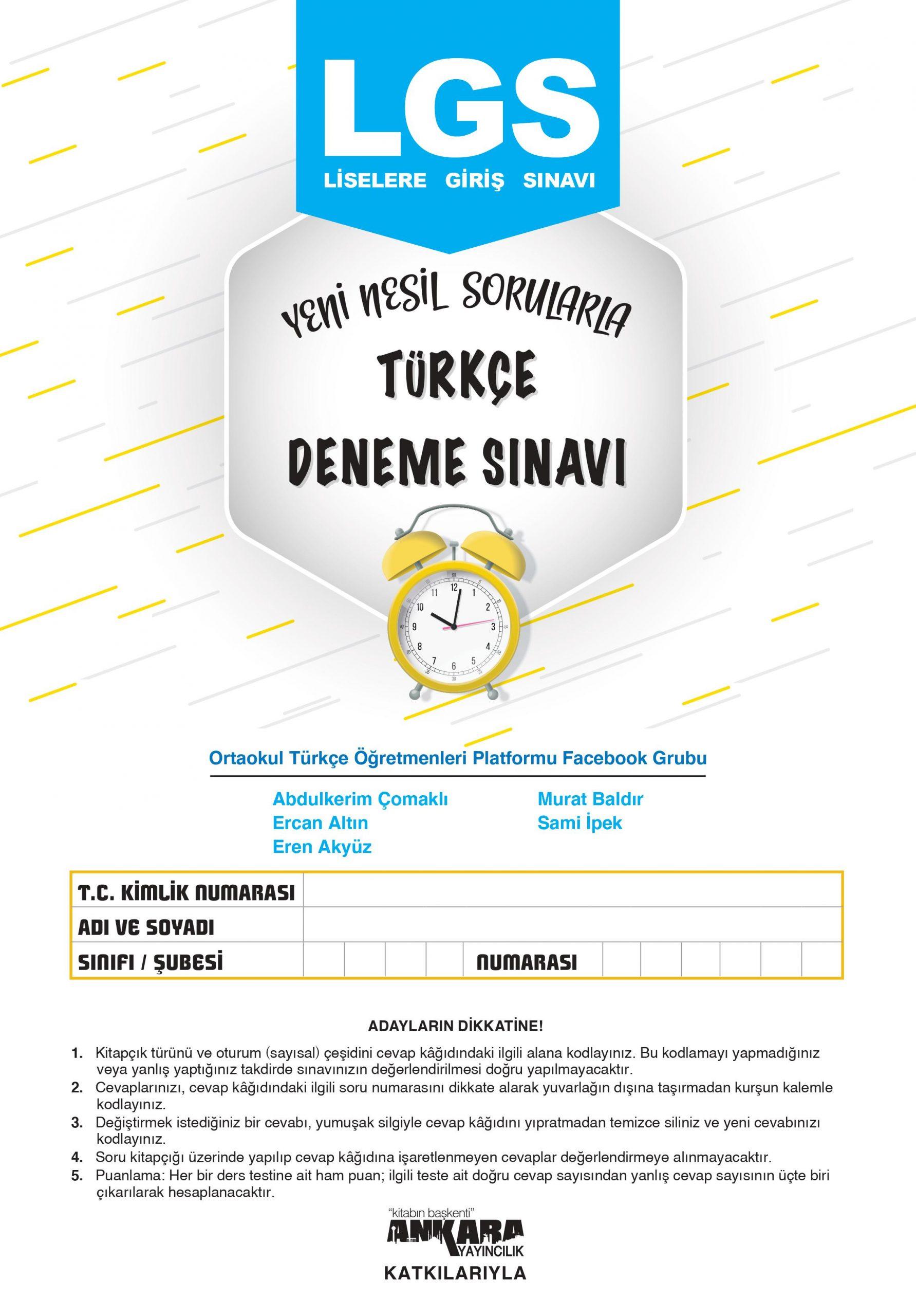 LGS Türkçe Deneme Sınavı-1
